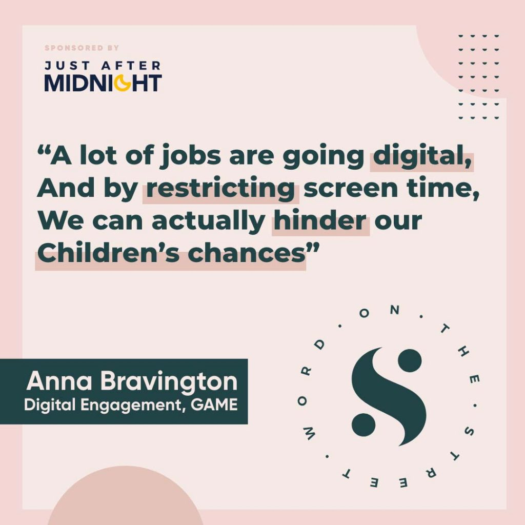 A quote from a podcast with Anna Bravington