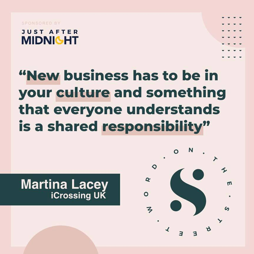 Quote from Martina Lacey's podcast